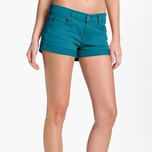 7 For All Mankind Aqua Shorts